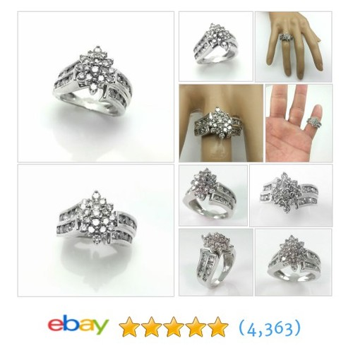 2.00CT DIAMOND CLUSTER ENGAGEMENT RING WHITE GOLD * BRIDAL #ebay @jewelryperfume  #etsy #PromoteEbay #PictureVideo @SharePicVideo