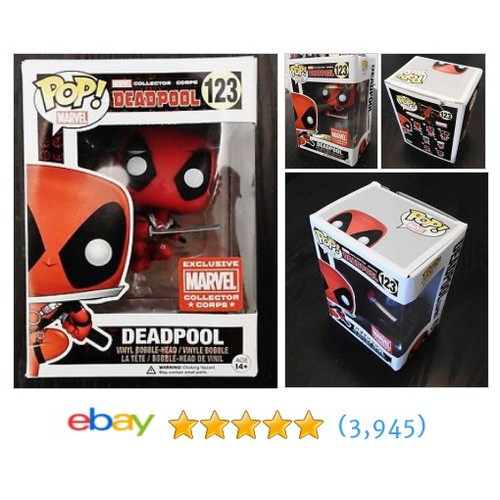 Funko Pop! Marvel Deadpool #123 Collector Corps Exclusive #ebay @bennettstreet1  #etsy #PromoteEbay #PictureVideo @SharePicVideo