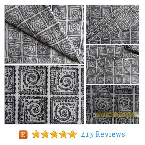 Warli print Black and white cotton fabric #etsy @indian_stores  #etsy #PromoteEtsy #PictureVideo @SharePicVideo