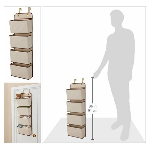 Delta Children 4 Pocket Hanging Wall Organizer, Beige #socialselling #PromoteStore #PictureVideo @SharePicVideo