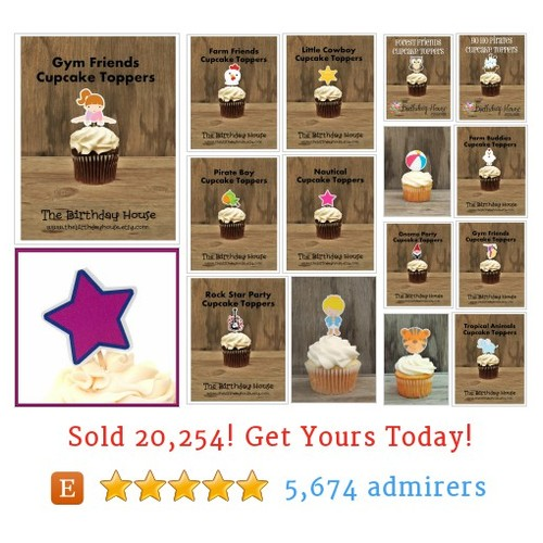 Cupcake Topper Singles Etsy shop #cupcaketoppersingle #etsy @birthdayhouse  #etsy #PromoteEtsy #PictureVideo @SharePicVideo