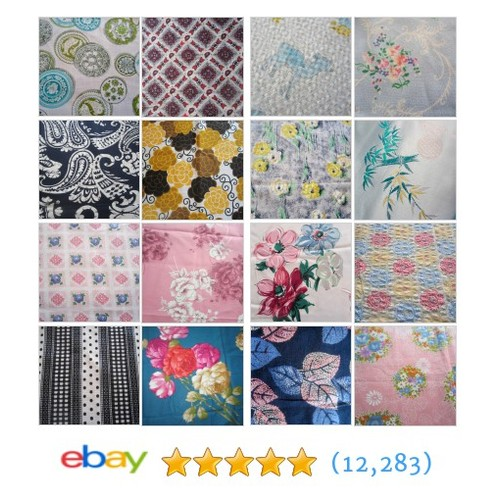 Fabric Items in Vintage Fabric Addict store #ebay @luvintagefabric  #ebay #PromoteEbay #PictureVideo @SharePicVideo