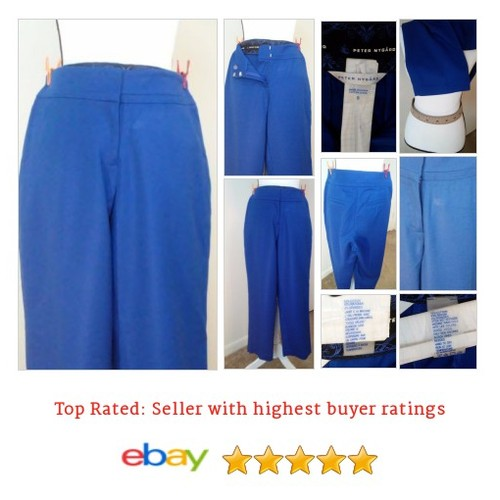 Peter Nygard Pants Size 8 Blue Dress Inseam 24 #Pant #DressPant #PeterNygård #etsy #PromoteEbay #PictureVideo @SharePicVideo