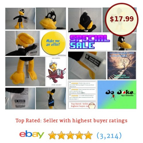 WARNER BROS STUDIO STORE-DAFFY DUCK BEAN PLUSH-9 INCH-INSANE DUCK-NEW/TAGS-COOL! | eBay #WARNERBROSSTUDIOSTORE #etsy #PromoteEbay #PictureVideo @SharePicVideo