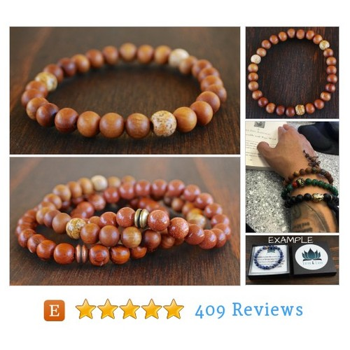 Men's Sandalwood Bracelet. Men's Jasper #etsy @lotusandlava  #etsy #PromoteEtsy #PictureVideo @SharePicVideo
