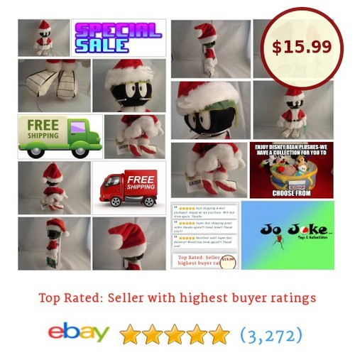 WARNER BROS STUDIO STORES-MARVIN THE MARTIAN SANTA BEAN PLUSH-1998-NEW-TAGS-NEAT | eBay #WARNERBROSSTUDIOSTORE #etsy #PromoteEbay #PictureVideo @SharePicVideo