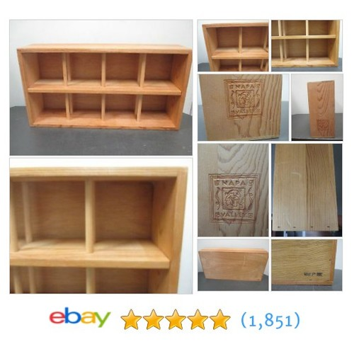 Vintage Napa Valley Wooden 96 CD Holder Storage Rack Wood Display #ebay @findingthingz  #etsy #PromoteEbay #PictureVideo @SharePicVideo