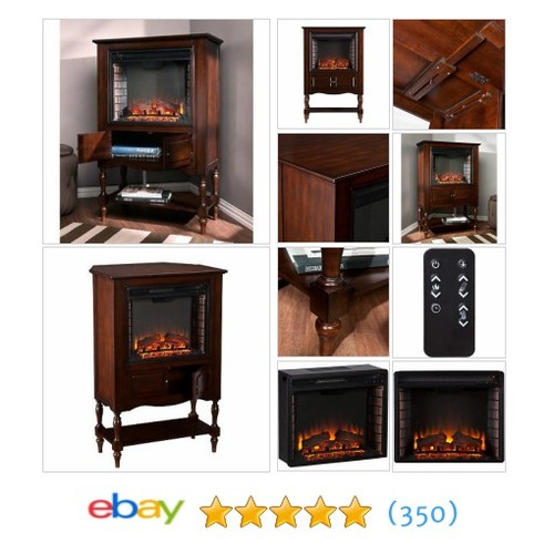 Electric Fireplace Heater Antique TV Stand Storage Wood Cabinet #ebay @leader_dealers  #etsy #PromoteEbay #PictureVideo @SharePicVideo