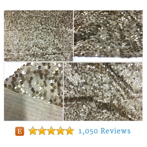 Gold Sequin Fabric for Fashion and Decors #etsy @craftasyfashion  #etsy #PromoteEtsy #PictureVideo @SharePicVideo