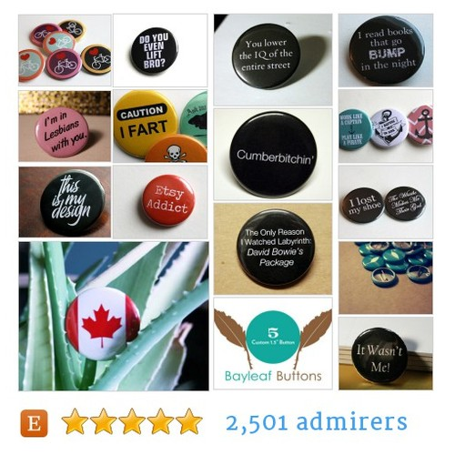 Pinback Buttons, Keychains, Magnets & Pocket Mirrors by #etsy shop @BayleafxButtons  #etsy #PromoteEtsy #PictureVideo @SharePicVideo