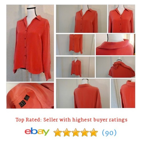 INC International Concepts Women's #Blouse Size 14 Pink Long Sleeve Spring Coral | eBay #Top #WomensClothing #etsy #PromoteEbay #PictureVideo @SharePicVideo