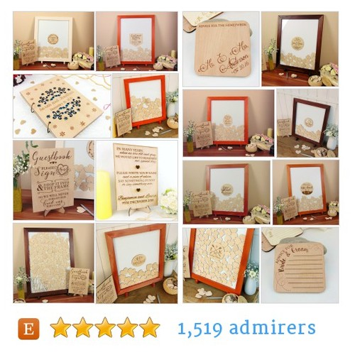 Wedding Guest Books #etsy shop #weddingguestbook @emma_ywp  #etsy #PromoteEtsy #PictureVideo @SharePicVideo