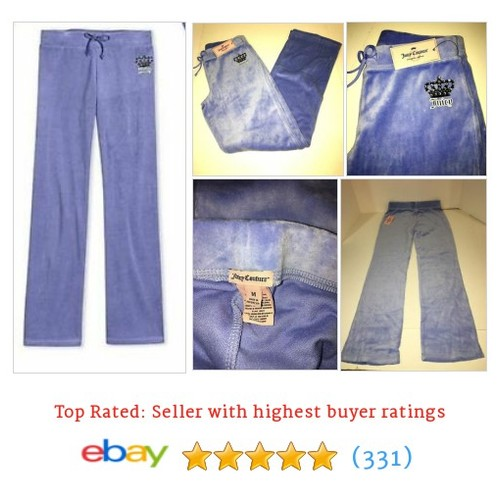NWT Juicy Couture Tracksuit Pants Girls Kids Children Velour Purple #ebay @sell4best  #etsy #PromoteEbay #PictureVideo @SharePicVideo