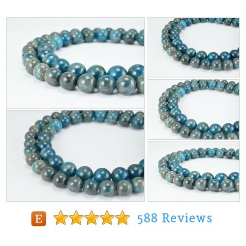 Natural Apatite Gemstone Beads (AAA #etsy @shenoutebeads  #etsy #PromoteEtsy #PictureVideo @SharePicVideo