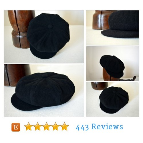 Black Newsboy Cap - Pure Wool Velour #etsy @hatsncompany  #etsy #PromoteEtsy #PictureVideo @SharePicVideo