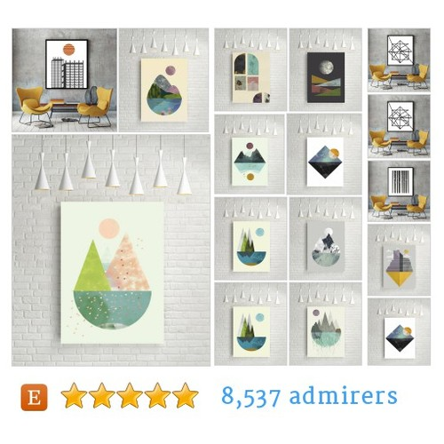 Geometric prints #etsy shop #geometricprint @flatowl  #etsy #PromoteEtsy #PictureVideo @SharePicVideo