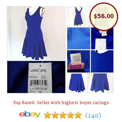 #LoveAdy #Blue #Dress Size M #Pleated Mini Flare Jacquard #Repaired | #NWT #etsy #PromoteEbay #PictureVideo @SharePicVideo
