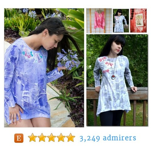 Hawaii HandPainted longsleeve tunic #etsyfashionhunter #handmadehour #integritytt @HandmadeHour @Relay_RTs @HyperRTs #etsy #PromoteEtsy #PictureVideo @SharePicVideo