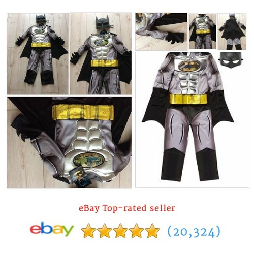 Boys Multi DC Batman® Delux Costume and Headmask complete outfit age #ebay @ofcostumes  #etsy #PromoteEbay #PictureVideo @SharePicVideo