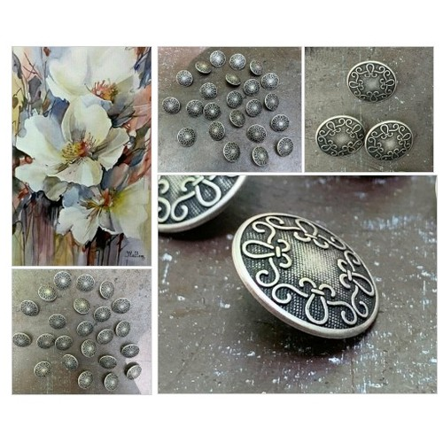 Metal Buttons in Antiqued Silver Finish Beautiful Scroll Design Shank Sewing and Craft Buttons - B461  - 3 Buttons #etsyspecialt  #SpecialTGIF #Specialtoo       @SaucyRTs    @DestelloRTs  @YTGRTs @FatalRTs  #StreamShare #metalbuttons #jewelrybuttons #etsy #PromoteEtsy #PictureVideo @SharePicVideo