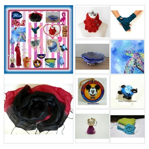 Blue and Pink  #TintegrityT #EtsySpecialT #artcollage #shopetsy #etsy #etsygifts #EtsyPolyvore #etsyevolution  #socialselling #PromoteStore #PictureVideo @SharePicVideo
