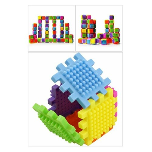 60 Piece Stacking Bristle Blocks and Interconnecting Building Set For Toddlers and Children #socialselling #PromoteStore #PictureVideo @SharePicVideo