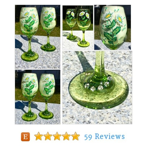 Hand Painted Wine Glasses With Daisies and #etsy @ipaintitpretty https://www.SharePicVideo.com/?ref=PostPicVideoToTwitter-ipaintitpretty #etsy #PromoteEtsy #PictureVideo @SharePicVideo