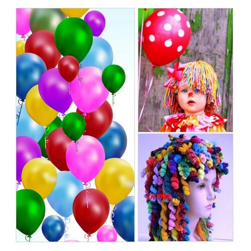 Clown Hair for Halloween, Funny Party Hat, Handmade Clown Wig , Costume Accessory #etsyspecialt #integritytt #SpecialTGIF #Specialtoo  #SpecialTParty       @InfamousRTs @Demented_RTs #etsy #PromoteEtsy #PictureVideo @SharePicVideo