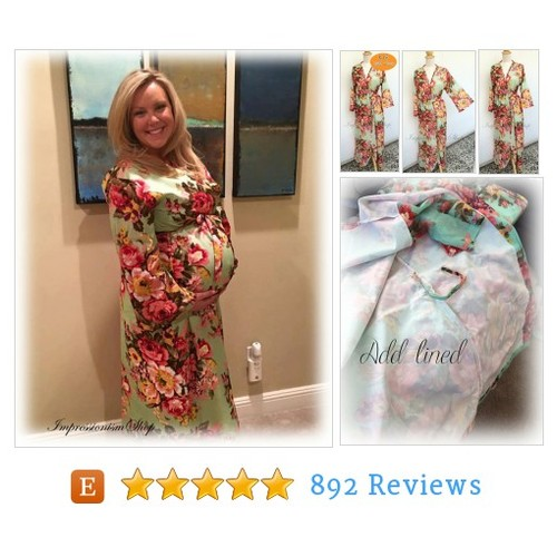 Birthing gown, Delivery Labor Gown, #etsy @impressionism14  #etsy #PromoteEtsy #PictureVideo @SharePicVideo