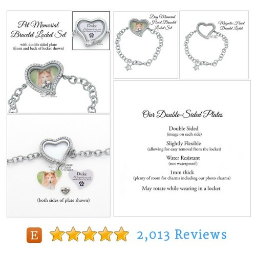 In Memory of a Pet Floating Locket Set * #etsy @charms4locket  #etsy #PromoteEtsy #PictureVideo @SharePicVideo