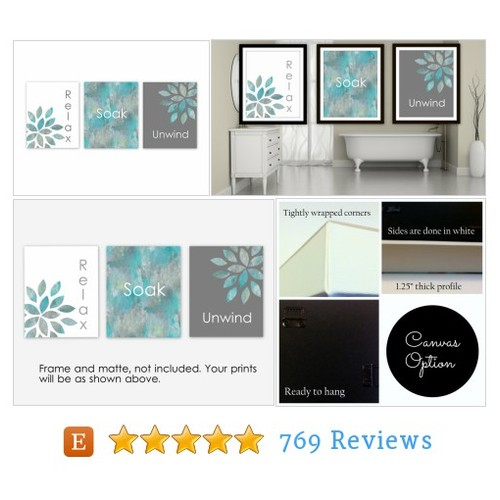 Bathroom Wall Art Relax Soak Unwind Home #etsy @bwilkinson54  #etsy #PromoteEtsy #PictureVideo @SharePicVideo