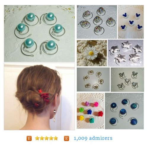 #JEWELRY FOR YOUR HAIR by #HairSwirls1 Etsy shop  #etsy #PromoteEtsy #PictureVideo @SharePicVideo