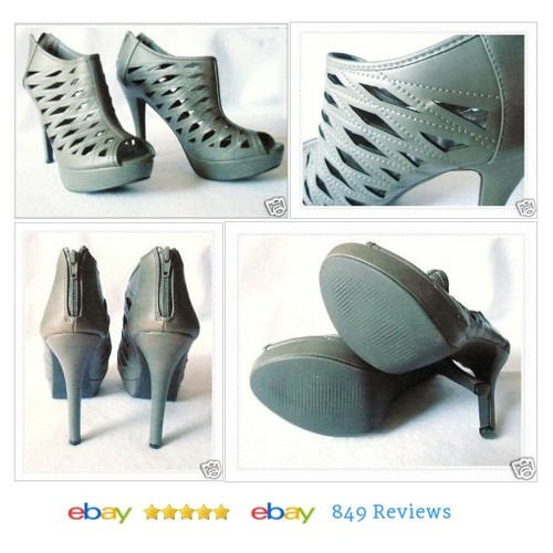 Womens Size 10 Stilettos Grey Platform High Heels Shoes Twisted #Heel #Twisted #Stiletto #etsy #PromoteEbay #PictureVideo @SharePicVideo
