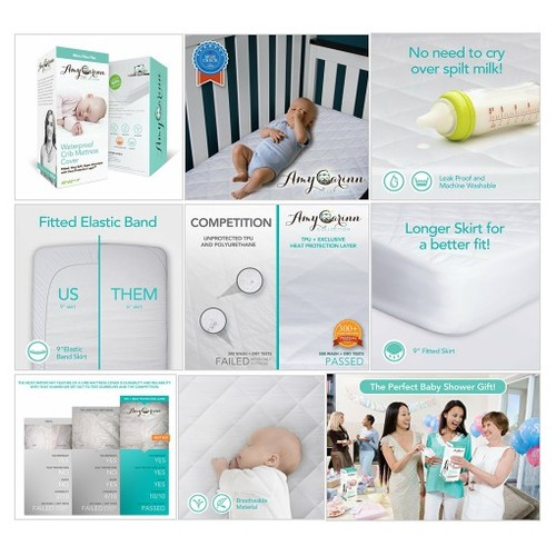 ACC# Microfiber#Crib #Mattress #Cover - #Protection for Expensive Mattresses!#Waterproof #socialselling #PromoteStore #PictureVideo @SharePicVideo