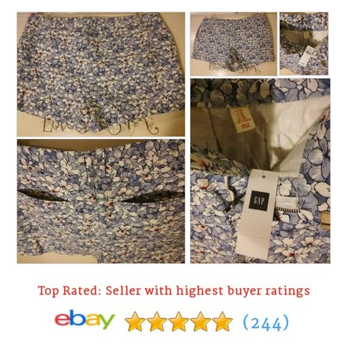KHAKIS by GAP Floral City 3 Inch Summer Shorts Women's Size 16 #ebay @rachelresells  #etsy #PromoteEbay #PictureVideo @SharePicVideo