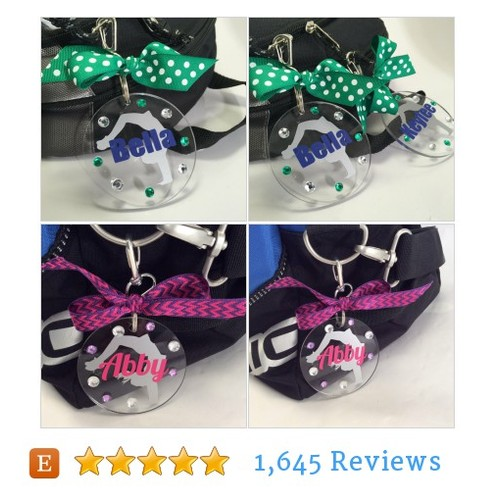 Cheerleader Handspring Bag Tag, #etsy @gemlightsgifts  #etsy #PromoteEtsy #PictureVideo @SharePicVideo