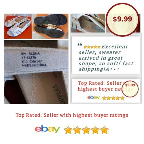 #Grasshoppers 8M #Aloha EF-42276 #Slingback Womens #Stone #Tan  #Sandal #FlipFlop #fashionista #fashion #auction #etsy #PromoteEbay #PictureVideo @SharePicVideo