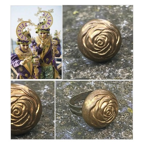 Brass Rose Vintage Button Ring Flower Statement Ring  Adjustable Woman's Ring Metal Upcycled Button Ring  #etsyspecialt #integritytt #SpecialTGIF #Specialtoo  #TMTinsta      @DNRBOT  @Wild_RTs @Panther_RTs . #etsy #PromoteEtsy #PictureVideo @SharePicVideo