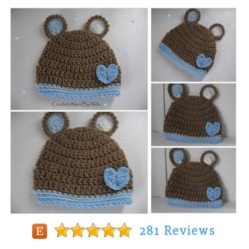 Crochet baby boy hat, 0 to 3 months, boy #etsy @lidamfdavis  #etsy #PromoteEtsy #PictureVideo @SharePicVideo