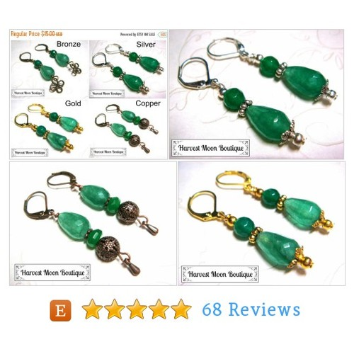 SALE Green Jade Earrings Bronze Copper #etsy @angie_pinkal  #etsy #PromoteEtsy #PictureVideo @SharePicVideo