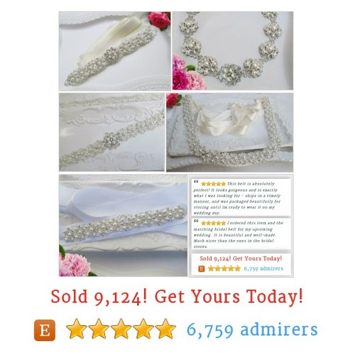 #Wedding sash & #Belt  #EtsyHMW  #IntegrityTT https://www.etsy.com/shop/MissJoansBridal/items?ref=pr_shop_more&section_id=7257832 #etsy #PromoteEtsy #PictureVideo @SharePicVideo