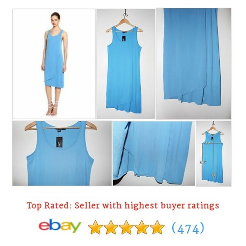 DKNY Layered Matte Jersey Tank Dress Size S in Marina Blue #ebay @detour2fabulous  #etsy #PromoteEbay #PictureVideo @SharePicVideo