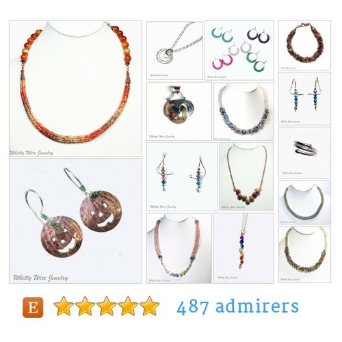 knitted, wire & metal jewelry by WhittyWireJewelry Etsy @whittywire  #etsy #PromoteEtsy #PictureVideo @SharePicVideo
