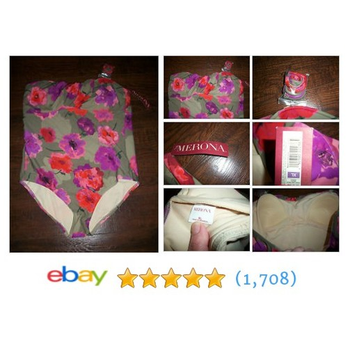 NWT MERONA 1 PIECE BATHING SUIT DEATCHABLE STRAPS, SZ XL. EXCELLENT #ebay @bad_cat_thrift  #etsy #PromoteEbay #PictureVideo @SharePicVideo