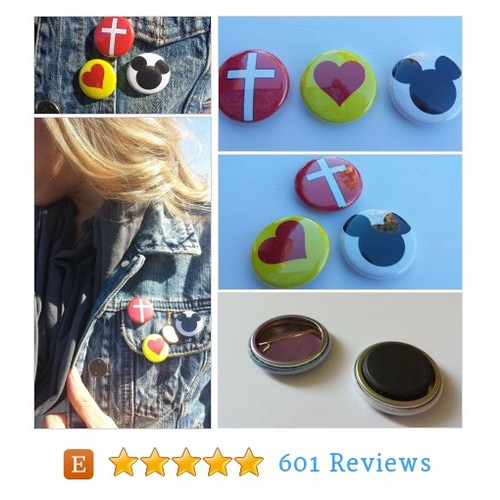 BUTTON TRIOS - Faith, Love, & Mickey #etsy @mydearlyloved  #etsy #PromoteEtsy #PictureVideo @SharePicVideo
