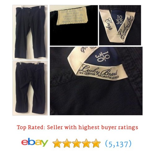 Womens LUCKY BRAND CAPRI CROP PANTS Size 10 Black 5 Pocket Zip Button #ebay @catreasures https://www.SharePicVideo.com/?ref=PostPicVideoToTwitter-catreasures #etsy #PromoteEbay #PictureVideo @SharePicVideo