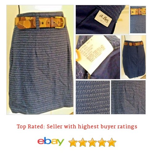 A Byer Women's #Skirt Size 9 Above Knee Blue Spring Denim Made USA | eBay #AByer #ALine #etsy #PromoteEbay #PictureVideo @SharePicVideo