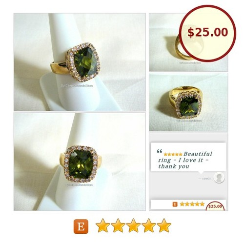 #Technibond #Gold #Ring #GreenQuartz #Gemstone #Checkerboard #CZ Gems #SylCameoJewelsStore #Jewelry #StatementRing @etsyRT #etsyspecialt #TintegrityT #statementjewelry #jewelryforsale #jewelrylovers    #etsy #PromoteEtsy #PictureVideo @SharePicVideo