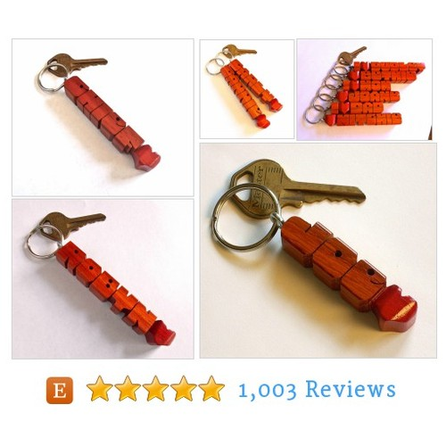 Custom Name Keychain, Paduak Wood, #etsy @dustynewt  #etsy #PromoteEtsy #PictureVideo @SharePicVideo
