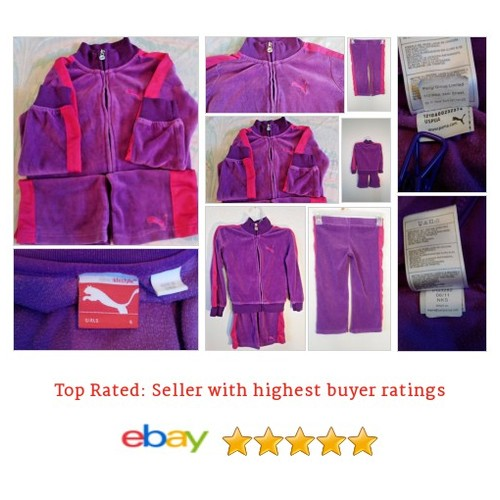 Puma Girls 4t Tracksuit Purple and Pink Velour Soft Rare Trending | eBay #Set #PUMA #Outfit #etsy #PromoteEbay #PictureVideo @SharePicVideo